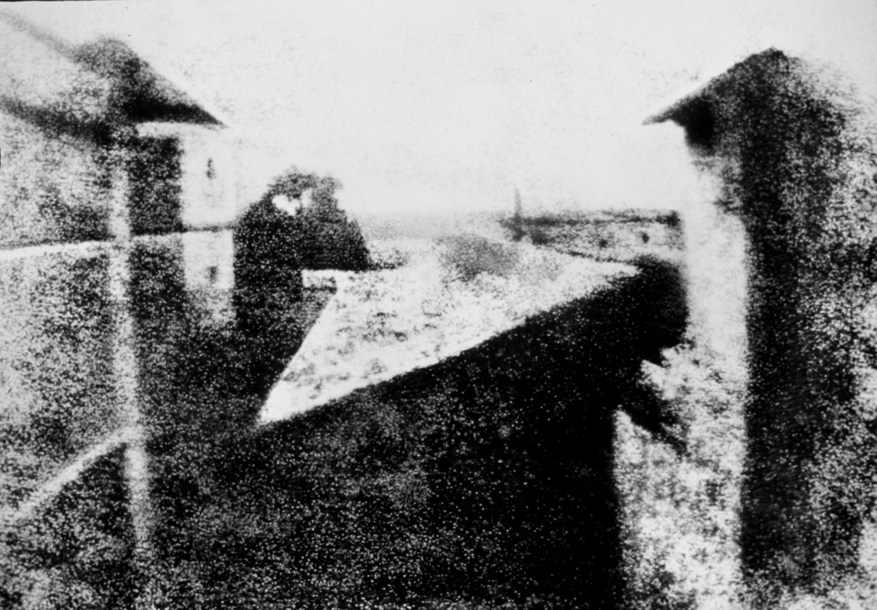 View from the Window at Le Gras, taken by Nicéphore Niépce in 1826